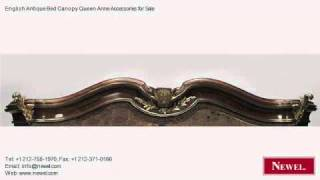 English Antique Bed Canopy Queen Anne Accessories For Sale