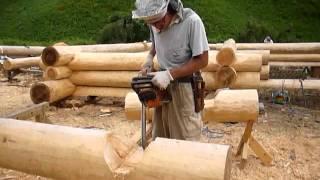 佐賀県鳥栖市でハンドカットログハウスの新築工事を行います。ログハウ...