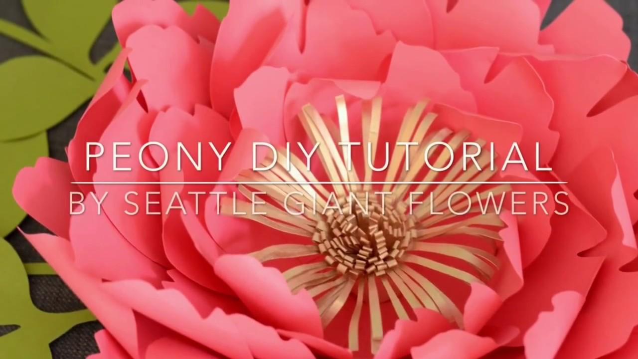 712fc9baae Peony paper flower DIY tutorial by Seattle Giant Flowers. - YouTube