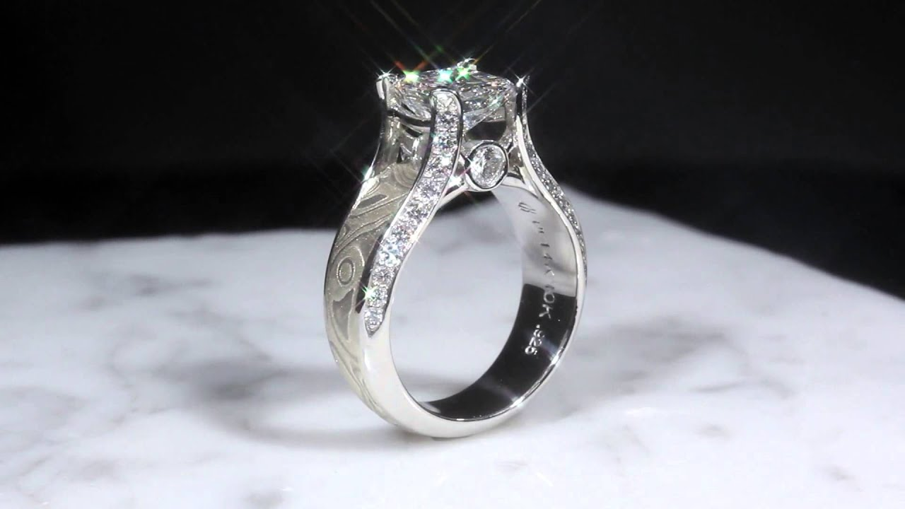 carat fire firemark platinum mark cut halo center ring princess diamond