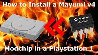How to Install a Mayumi v4 Modchip in a Playstation 1