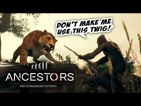 How Did Any Of Our Ancestors SURVIVE?! 🦍🐍🐆 || First Play || Ancestors: The Humankind Odyssey |
