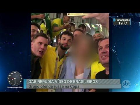OAB repudia vídeo em que brasileiros ofendem uma russa no Mundial | SBT Brasil (19/06/18)