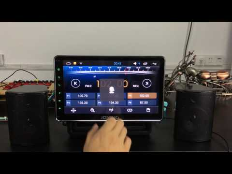 Joying latest new android system for test radio modify radio station, adjust radio sensitivity