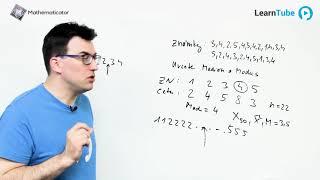 MATURITA Z MATIKY - 9. ŘEŠENÝ PŘÍKLAD - Statistika - Modus a Medián
