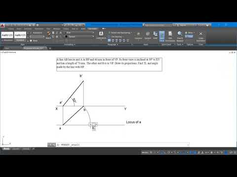 Engineering Graphics and Drawing: Projection of Lines Complete problem solutions AutoCAD Line3