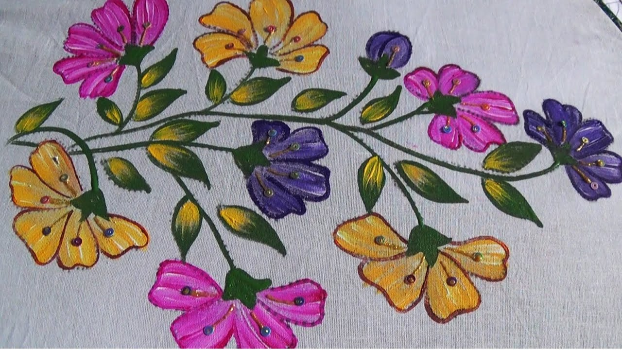 Fabric Painting Designs For Bed Sheets Patterns