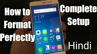 How to Complete Format & Setup Android Mobile [Hindi]