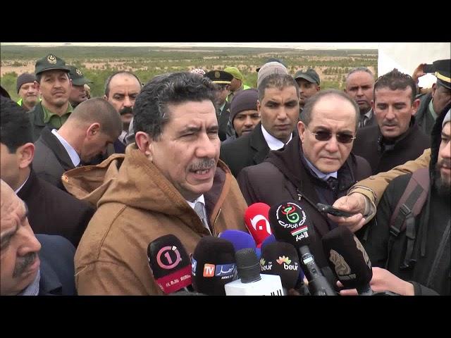 تصريحات وزير الفلاحة الدكتور شريف عماري من محيط السد الاخضر  خلال زيارته للولاية الجلفة 16 11 2019