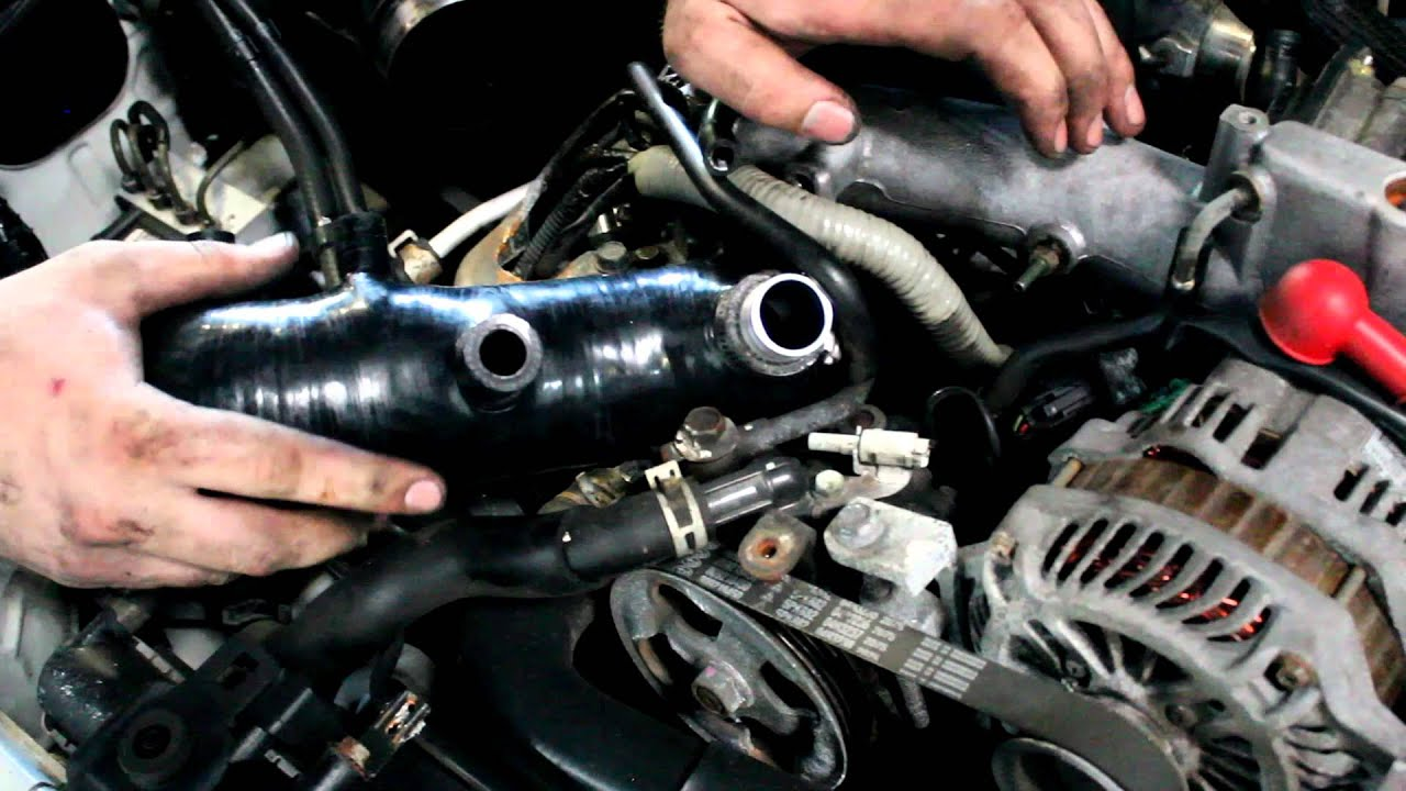 How To Install A Turbo Inlet On Subaru Youtube Stereo Wiring Diagram For 1998 Legacy Outback