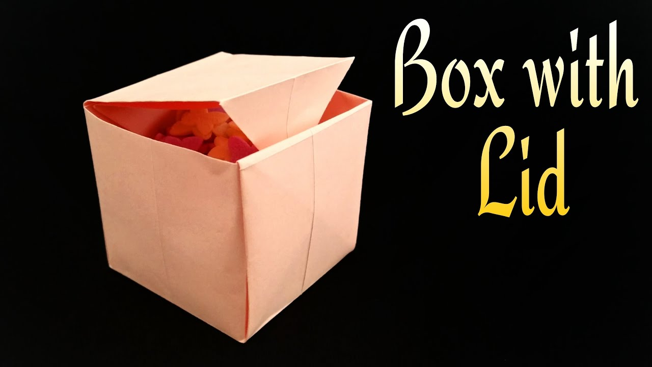 how to make a paper quot box with lidquot useful origami
