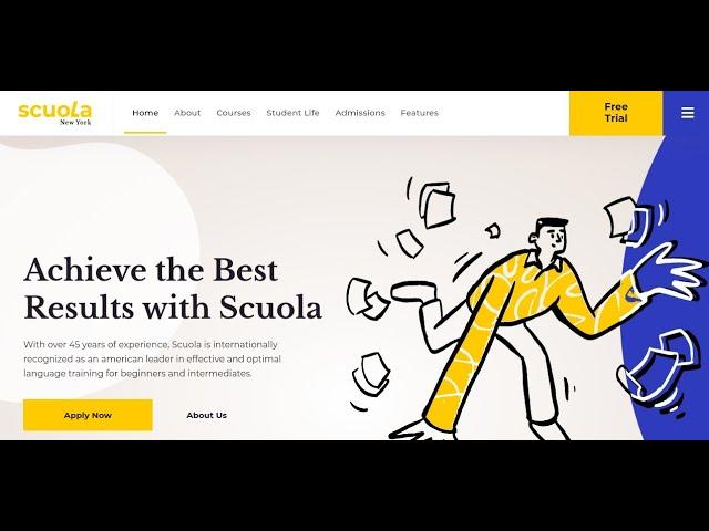 Scuola - Language School WordPress Theme   Online Language Course WordPress Theme - YouTube