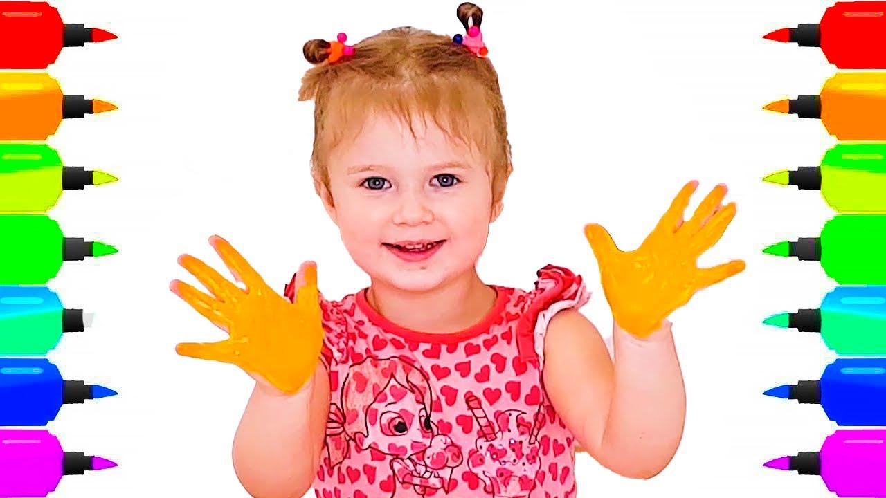 Kızın Sihirli Kalemleri   Girl Pretends to play with her Magic Pen (Türkçe)    Renkleri Öğreniyorum
