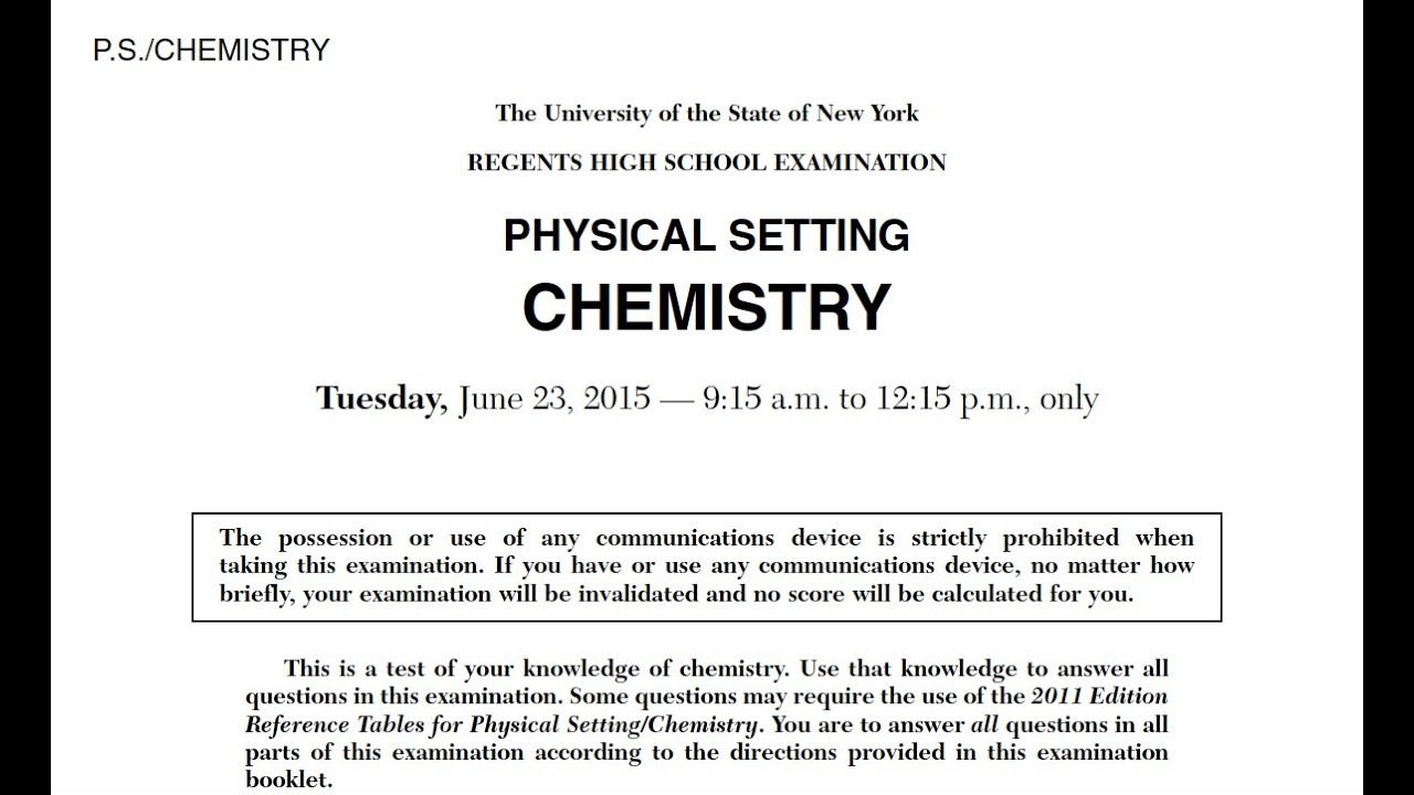 Regents Chemistry Review - Mr  Palermo's Flipped Chemistry Classroom