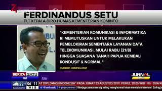 Kominfo Blokir Sementara Akses Internet di Papua