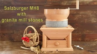 Salzburger Grain Mill Hand-Mill MH 8 with granite mill stones