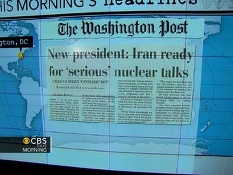 "Headlines: New Iran president ""serious"" about resolving nuclear issues"