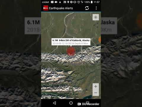 Kaktovik Alaska Map.Kaktovik Alaska Earthquake August 12th 2018 Youtube