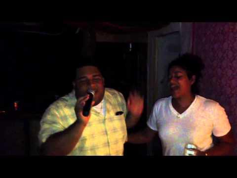 Xavier cheating on the karaoke