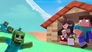 Minecraft: DESAFIO DA BASE 100% SEGURA CONTRA TSUNAMI DE ZUMBIS ‹ JUAUM ›