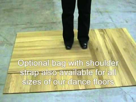 Portable Rollout Dance Floor Review Wmv Youtube