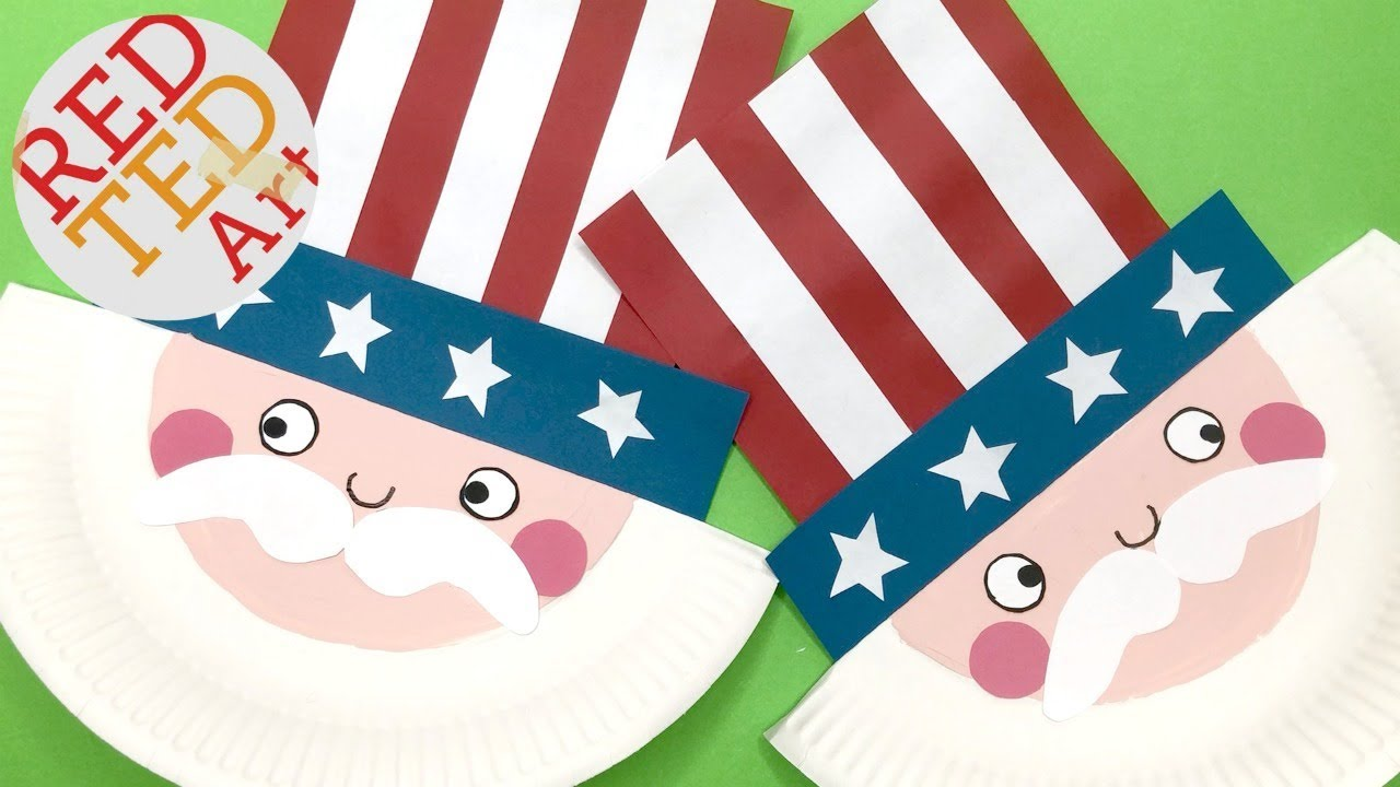 Paper Plate Uncle Sam DIY Decor - Easy Paper Plate 4th July Craft ...