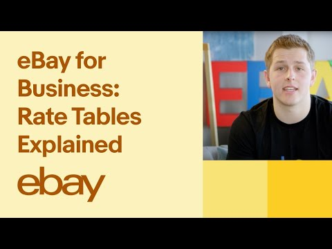 EBay For Business: Rate Tables Explained