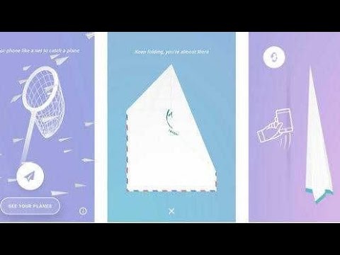 Paper planes game by Google