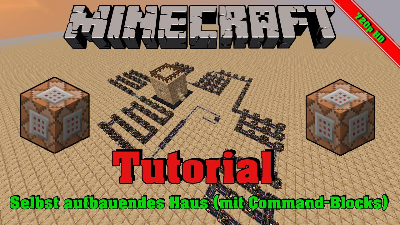 Minecraft Selbst Aufbaubares Haus I Mit CommandBlocks LoloxLP - Minecraft haus bauen mit command