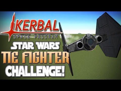 Kerbal Space Program! | Star Wars TIE Fighter Build Challenge!