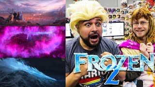 FROZEN 2 LOOKS LIKE AN ACTION MOVIE! REACTING TO Frozen 2 Official Teaser Trailer! FROZEN 2 REACTION
