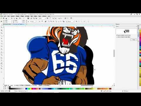Corel Draw Customizing Clip Art for a Fun & Unique Mascot ...