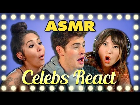 CELEBS REACT TO ASMR