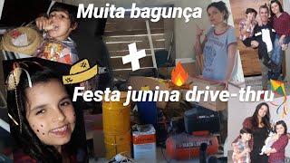 DIÁRIO de OBRA  Arrumando a BAGUNÇA + Festa Junina das crianças + Bjs 😙