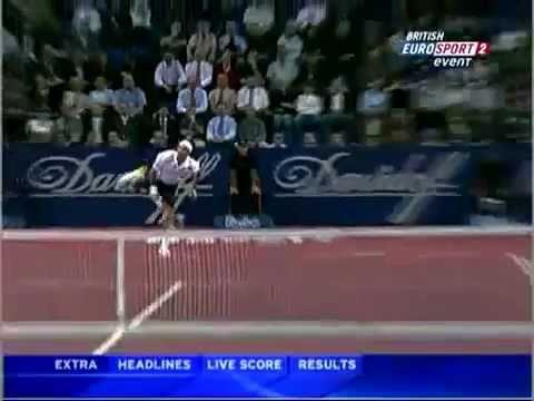 Roger Federer- best second serve kick