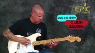 Blues rock guitar lesson Learn licks rhythms scales from Testify Stevie Ray Vaughan SRV