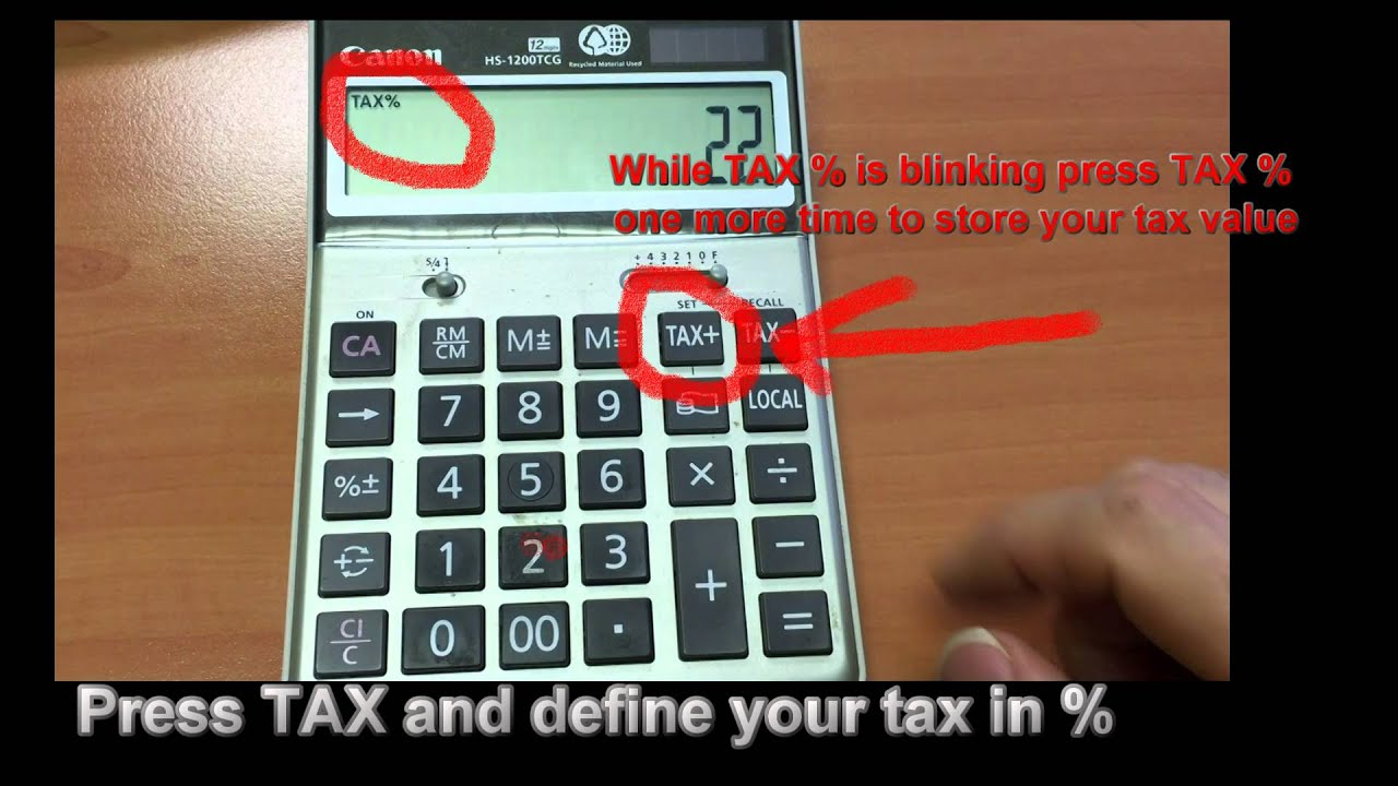 how to use tax function on calculator youtube