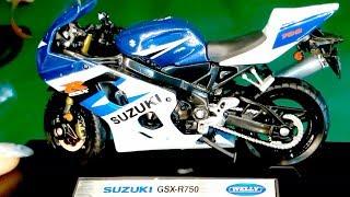 Масштабная модель мотоцикла Suzuki GSX R750 1:18 из Китая