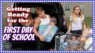 GETTING READY FOR THE FIRST DAY OF SCHOOL! SHOPPING FOR SCHOOL LUNCHES!