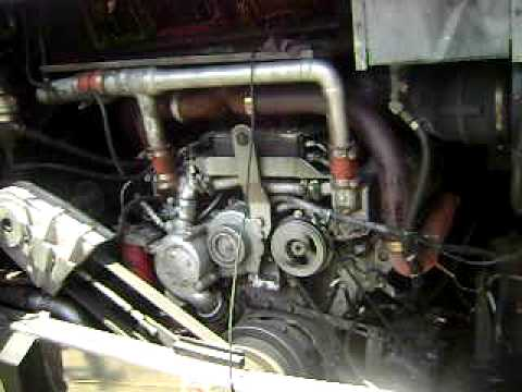 detroit diesel 8v92 running in prevost conversion bus