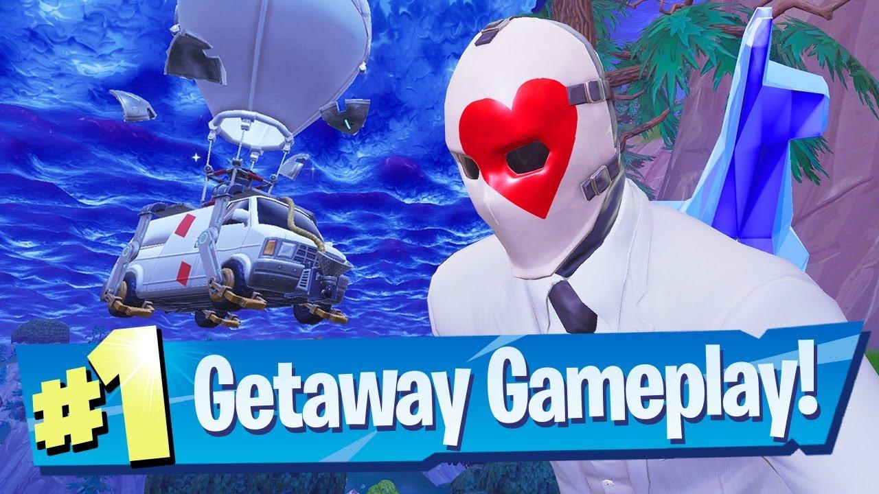 getaway mode gameplay victory fortnite battle royale - fortnite getaway