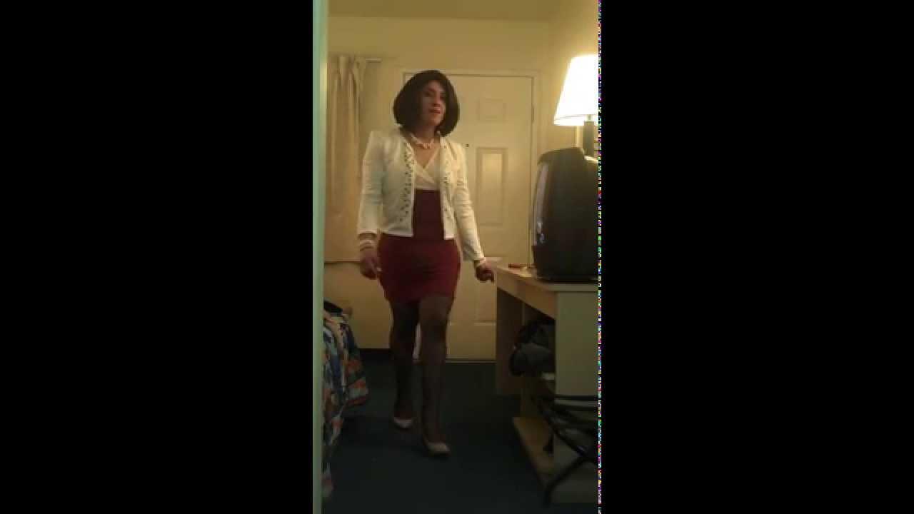 crossdresser in black pantyhose. - youtube