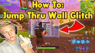 Fortnite Wall Glitch Tutorial - Jump Through Walls (Glitch qui a obtenu Tfue banned)