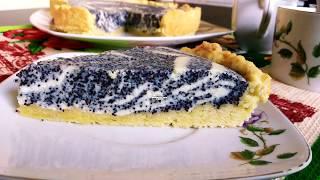 Песочный пирог с творогом и с маком. Быстрый пирог к чаю