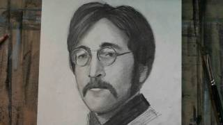 How to Draw John Lennon Step by Step Portrait