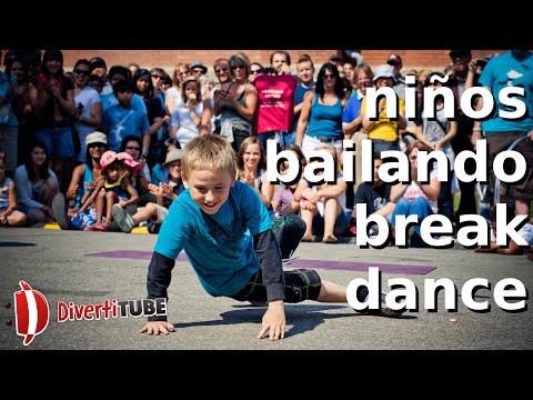 V�deos de ni�os bailando break dance