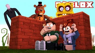 BEWARE OF ROBLOX MONSTERS ! Roblox Build to Survive English