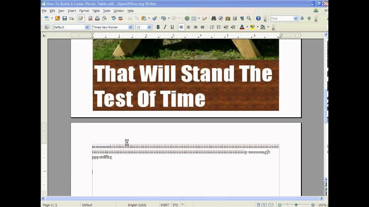 Open Office Tutorial To Create A Kindle PDF
