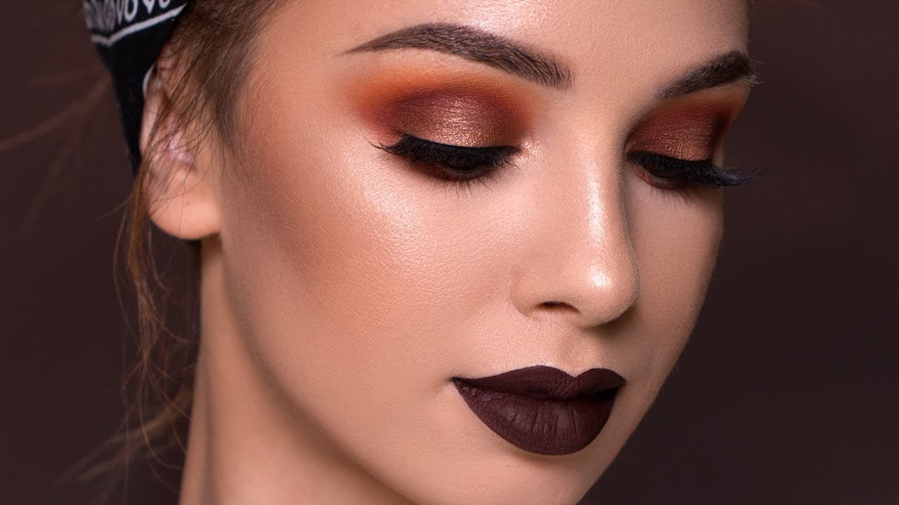 FALL Makeup Tutorial | Bold Vampy Glam 2017 - YouTube