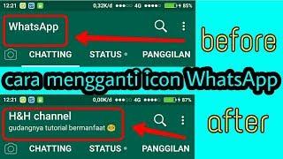 cara mengganti icon nama whatsapp